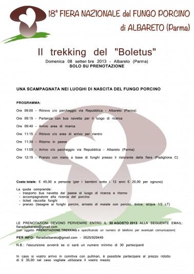 Trekking del Boletus 2013 - Escursione guidata alla ricerca del Re Porcino - Domenica 8 settembre 2013